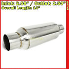 10 inch Resonator Muffler Glass Pack 25 inches In Out Stainless Steel 212243