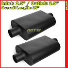 High Flow Two Chamber Muffler 25 inches Center In Out Black Pair 212248