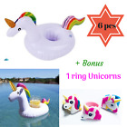 Inflatable Unicorn Drink Holder Cup Float 6 Pc For Pool Party Adults Kids+Bonus