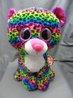 """TY Beanie Boos DOTTY - Multicolor Leopard Large Plush Toy 17"""" With Tags!!"""