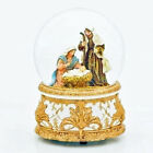 SNOW GLOBES O COME ALL YE FAITHFUL MUSICAL NATIVITY SNOW GLOBE HOLY FAMILY