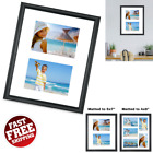 Large Picture Frame Collage Black Wood Stand Home Office Decor Wall Mount 11x14
