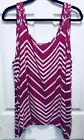 Avenue Plus Size 22 24 Pink White Top Tank Sharkbite Top Stretch Braided Straps