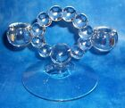 Vintage IMPERIAL GLASS  CANDLEWICK Bubble Double Candle Holder, UNUSED! EXC.!!!!