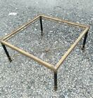 Vintage Brass and Steel table. Brass claw footed. NEEDS TOP.