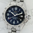 BREITLING SUPER OCEAN A17340 AUTOMATIC MENS WATCH BLUE DIAL 100%AUTHENTIC CF6205