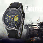Men Casual Silicone strap Sport Cool Quartz Hours Wrist Analog Military Watches