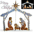 Christmas Outdoor Nativity Scene 72 Crystal Yard Holiday LED Light Decoration