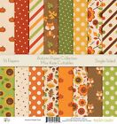 Pattern Paper Pack Autumn Scrapbook Card Stock Single Sided 12x12 Colle