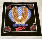 """Harley Dvidson SCARF 22"""" square """"Sink Your Claws Into Something Wild"""""""