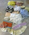 Lot Vintage Eyelet Trim Sewing Dolls Craft Large Double Colors Many Yards