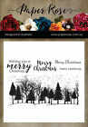 Paper Rose Clear Stamps Winter Trees