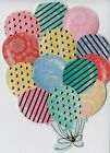 Embellished Die Cut Ballons Blank Note Card With Full Color Envelope