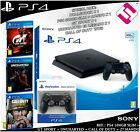 PS4 500 GB SLIM +ADDITIONAL COMMAND: UNCHARTED GTSPORT CALL OF DUTY WWII FLASH
