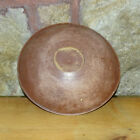 19thC New England Primitive Wooden Bowl Old Salmon Milk Paint Lathe Turned 1800s