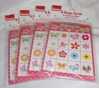 Lot of 4 Pkgs Way To Celebrate! Flowers/Butterflies Bingo Cards/Markers - NEW