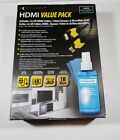 Xtreme HDMI Value Pack 4pc Kit 6ft High Speed HDMI Cables Cleaner Microfiber