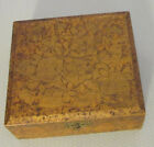 antique folk handcrafted PYROGRAPHY HANKIE BOX 6