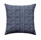 Cameron Oxford Outdoor Pillow, Tribal Navy and White Basket Weaves Throw Pillow