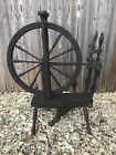 Late 1800s Wooden LARGE Spinning Wheel with 21