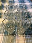 6 Lg. Vintage ice cream sundae/milkshake/parfait dessert footed glass dishes