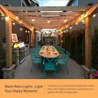 24ft 12 Bulbs Outdoor Vintage Commercial Grade Patio Party String Lights Bulbs