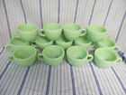 13 Jadeite Fire King Coffee Mugs Cups Jadite Anchor Hocking G299 Restaurant Ware