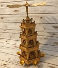 Vintage Weihnachts Pyramide German Christmas Nativity 4 Tier Windmill 24 7963