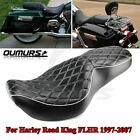 FLHR FLHX Driver Passenger Two Up Seat Saddle For Harley Road King 1997 2006 05