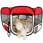 45 Pet Dog Kennel Fence Puppy Playpen Exercise Pen Folding Crate 600D Oxford