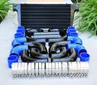 12 Pcs 3 Black Intercooler Piping Blue Silicone Coupler T-bolt Clamp Kit