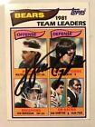 Walter Payton Signed Autograph Bears 1982 TOPPS