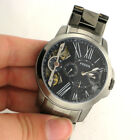 Fossil ME1146 Grant Blue Dial Stainless Steel Watch For Parts Not Working