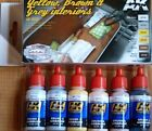 AK Interactive Yellow, Brown And Grey Interiors Acrylic Paint Set For Models