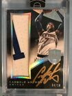 2014 Panini Eminence Carmelo Anthony Peerless Patch On Card Autograph Silver 10