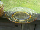 8 Vintage Bryce El Rancho Crinkle Glass Butter cup Yellow Gold Plates 8 1/4 EXC