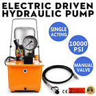 Electric Driven Hydraulic Pump 10152PSI Single Acting 110V 60Hz 8L Oil Capacity