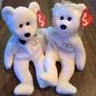 2001 MR & MRS TY Beanie Baby Plush Bride and Groom Bears Retired Wedding w Tags