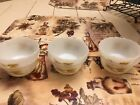 Set of 6 Vintage Fire King Oven Ware 6 oz Golden Wheat Custard Cups #424