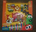 New VeggieTales Toy Nativity Playset Rare Christmas Figurines in box Lot Bible
