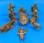 Vintage 5 Fontanini Depose Italy Roman 10 piece Nativity Set Figures Spider