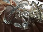 Handcrafted Open Mouth Fish Blown Art Glass Decorative Vase Clear 8 Excellent