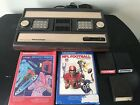 Mattel Intellivision Brown Console Bundle 2609 w/ 5 Games,  Tested