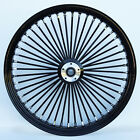 Black 48 King Spoke 26 x 35 Dual Disc Front Wheel for Harley