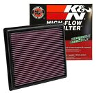 K&N 33-2443 AIR FILTER WASHABLE/REUSABLE HIGH FLOW FITS  2011- 2018 TOYOTA/LEXUS