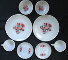 Vintage Fire King Primrose Dinnerware Luncheon 9 Piece Set Milk Glass Anchor Hck