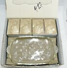 VINTAGE INFORMAL CRYSTAL SNACK SET IN ORIGINAL BOX