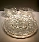 15 PC. FEDERAL HERITAGE 1940 CLEAR GLASS HOBNAIL LUNCHEON SET