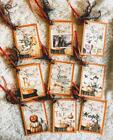 Set of 9 Hang Tags Vintage Halloween Potions Gift Tags Scrapbook Cards 216R
