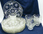16 pcs vintage ANCHOR HOCKING Star of David 8 SNACK PLATES 9 3/4